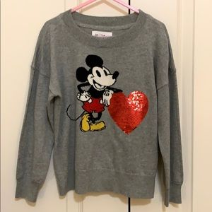 Girls GAP Mickey Mouse sweater NWT